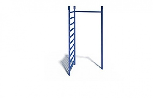 Gymnastic wall with crossbar