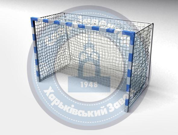 Handball gates with wooden frame