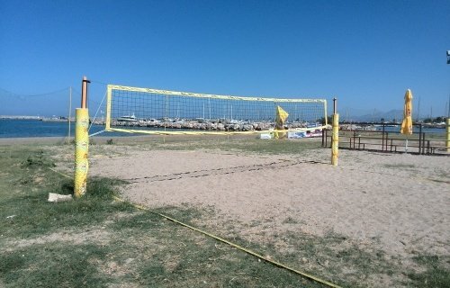 Set for beach volleyball