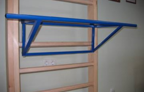 Crossbar for mounting to the gymnastic wall